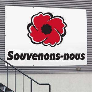 BANNER SOUVENONS-NOUS 9' X 12'