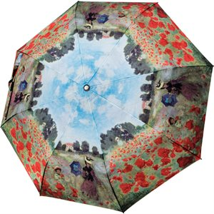 "COLLAPSIBLE UMBRELLA MONET ""POPPY FIELD"""