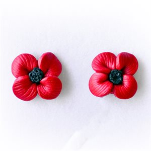 POPPY STUD EARRINGS, CLAY