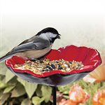 "POPPY BIRD FEEDER (5 ¾"" DIAMETER DISH)"