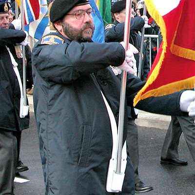 FLAG CARRIER WITH POUCH