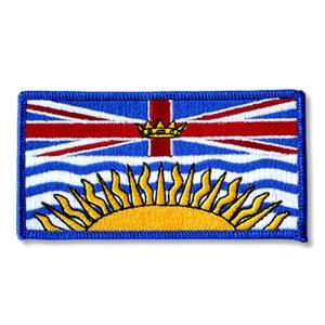 "PATCH BRITISH COLUMBIA FLAG 2"" X 4"""