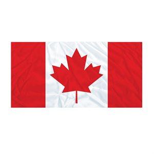 FLAG CANADA 4 1 / 2' x  9' SEAMED EDGE