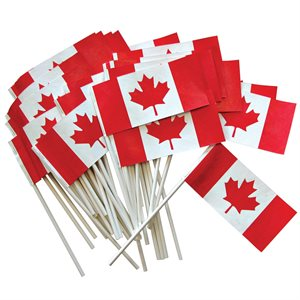 "FLAG CANADA 3"" X 6"" PACKAGE OF 50"