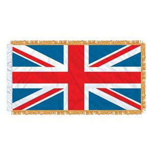"""FLAG UNION JACK  54"""" X 27"""" SLEEVED & FRINGED"""