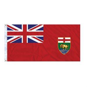 FLAG MANITOBA 6' X 3' GROMMET (2)