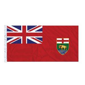FLAG MANITOBA 6' X 3' SLEEVED