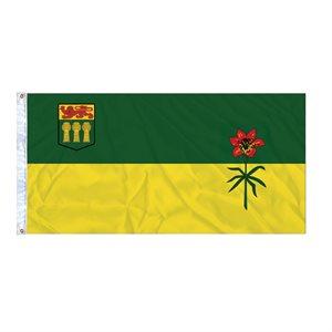 FLAG SASKATCHEWAN  6' X 3' GROMMET (2)
