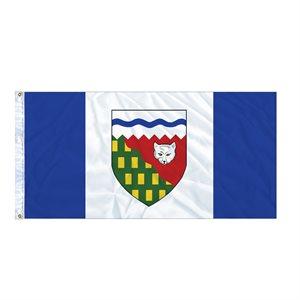 FLAG N.W.T.  6' X 3' GROMMET (2)