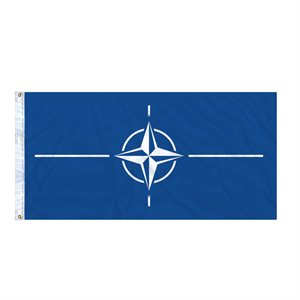 FLAG NATO 6' X 3' GROMMET (2)