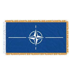 """FLAG NATO  54"""" X 27"""" SLEEVED & FRINGED"""