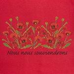 RED NOUS NOUS SOUVIENDRONS  LADIES POPPY T-SHIRT SMALL