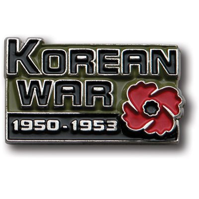 ÉPINGLETTE DE REVERS KOREAN WAR (ANGLAIS)